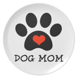 Pawprint Dog Mom Plate