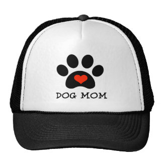 Pawprint Dog Mom Trucker Hat