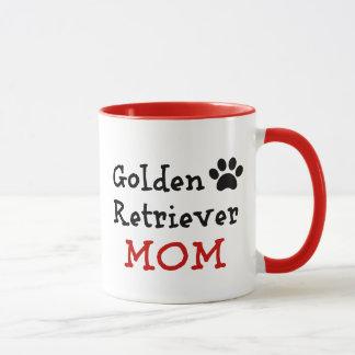 Pawprint Golden Retriever Mom Mug