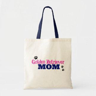 Pawprint Golden Retriever Mom Tote Bag