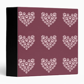 Pawprint Heart Binder