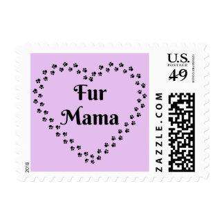 Pawprint Heart Fur Mama Postage