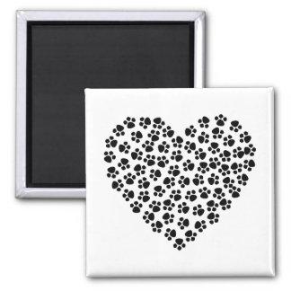 Pawprint Heart Magnet