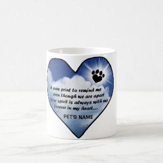 Pawprint Memorial Poem Coffee Mug