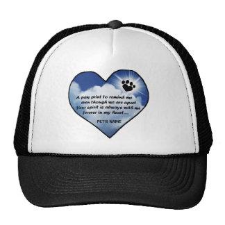 Pawprint Memorial Poem Trucker Hats
