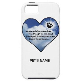 Pawprint Memorial Poem iPhone SE/5/5s Case
