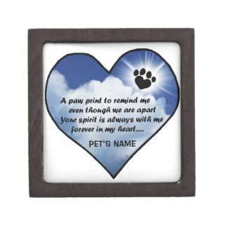 Pawprint Memorial Poem Jewelry Box