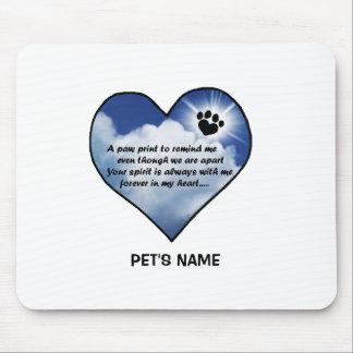 Pawprint Memorial Poem Mouse Pad