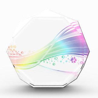 Pawprint Rainbow Acrylic Award
