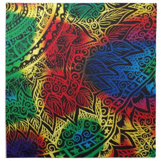 Pawprint Rainbow Cloth Napkin