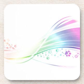 Pawprint Rainbow Coaster