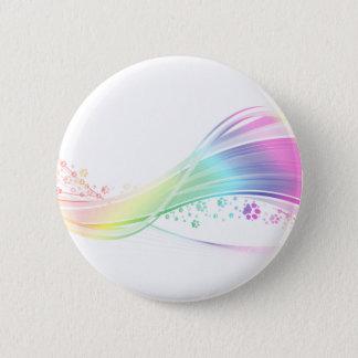 Pawprint Rainbow Pinback Button