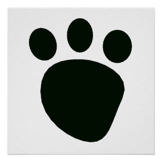 Pawprint Silhouette Poster
