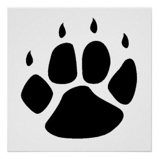 Pawprint Silhouette Posters