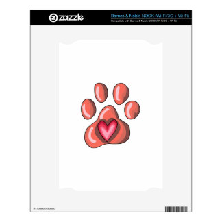 PAWPRINT DECALS FOR NOOK
