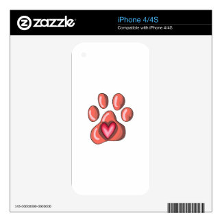 PAWPRINT SKIN FOR iPhone 4S