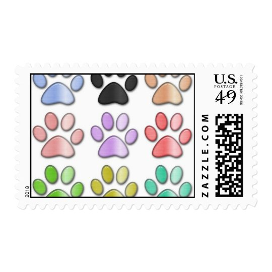 Pawprint stamps