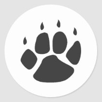 pawprint stickers