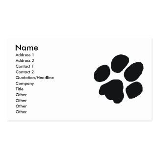 Pawprint Style Business Card