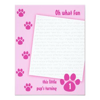 PawprintBlue_0071bc 4.25x5.5 Paper Invitation Card