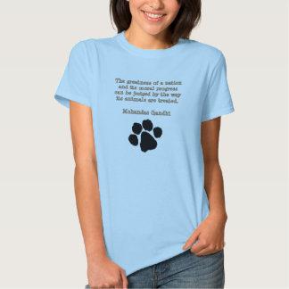 PawPrintGhandi Tee Shirt
