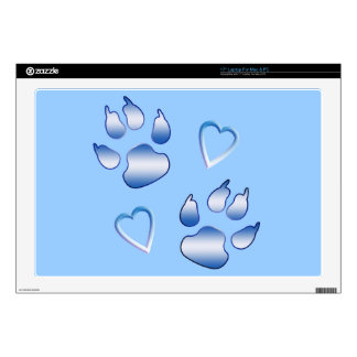 Pawprints and Hearts Skin For Laptop