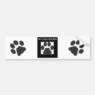 Pawprints Bumper Sticker
