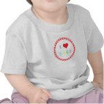 Pawprints circle I love heart dogs t-shirt, gift