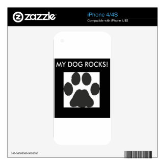 Pawprints Decal For iPhone 4