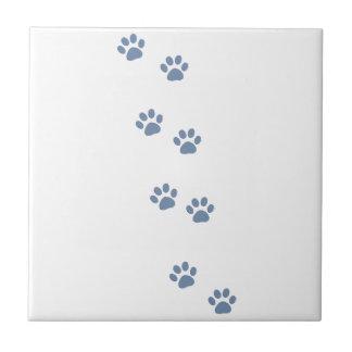 pawprints del gato del perro de mascotas azulejos cerámicos