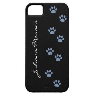 pawprints del gato del perro de mascotas funda para iPhone 5 barely there