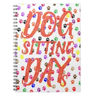 Pawprints Dog Sitting Days Notebook