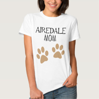 pawprints grandes de la mamá del airdale remeras