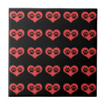 Pawprints In My Heart Ceramic Tile