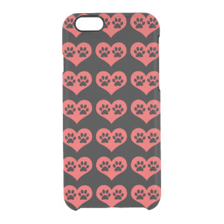 Pawprints In My Heart Clear iPhone 6/6S Case