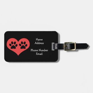 Pawprints In My Heart Tags For Luggage