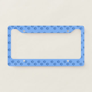 Pawprints License Plate Frame