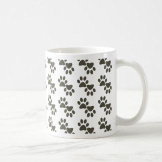 Pawprints minúsculo taza
