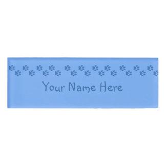 Pawprints Name Tag
