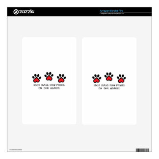 PAWPRINTS ON HEARTS DECALS FOR KINDLE FIRE