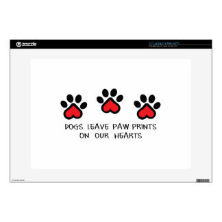 "PAWPRINTS ON HEARTS SKINS FOR 15"" LAPTOPS"