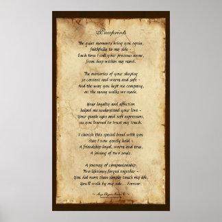 """""""Pawprints"""" Pet Memorial Poetry Poster"""