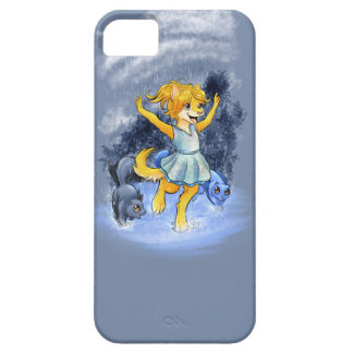 Pawprints Sheana en la lluvia iPhone 5 Case-Mate Cárcasa