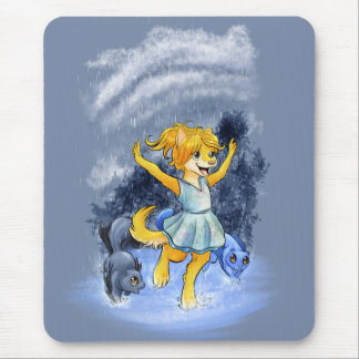 Pawprints Sheana in the Rain Mouse Pad