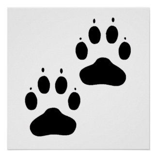 Pawprints Silhouette Posters