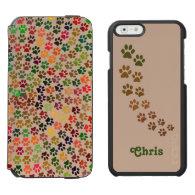 Pawprints Spiral Incipio Watson wallet case Incipio Watson™ iPhone 6 Wallet Case