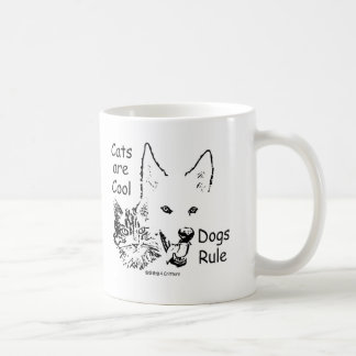 Paws4Critters Cats are Cool Dogs Rule Mug