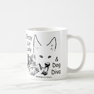 Paws4Critters Crazy Cat Lady and Dog Diva Mug