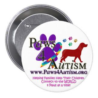 Paws 4 Autsim 3 Inch Round Button