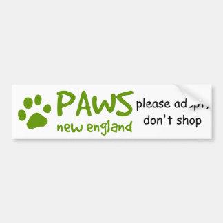 PAWS, adopt don't shop bumper sticker